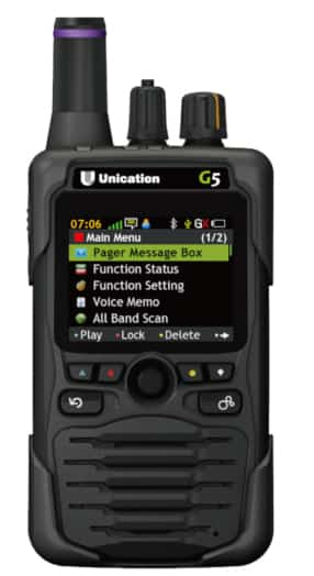 Unication G5 Pager in Black