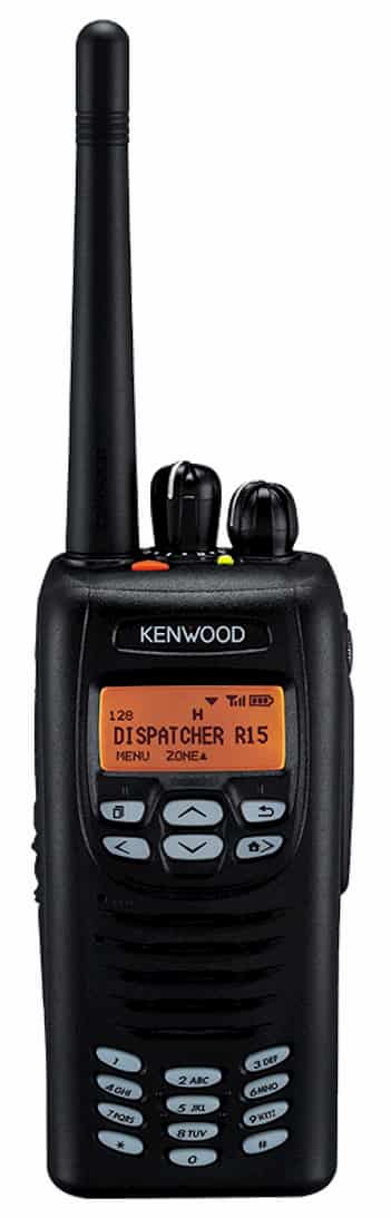 Kenwood NX200 series radio in black