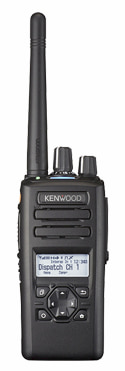 Kenwood NX 3000 Series radio in black