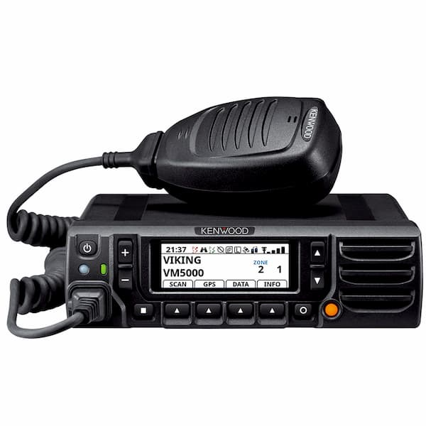 Kenwood VM 5000 radio and microphone in black