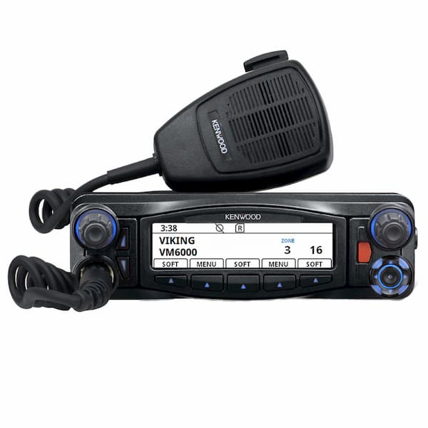 Kenwood VM 6000 radio and microphone in black