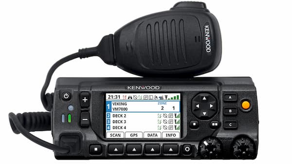 Kenwood VM 7000 series radio and microphone in black