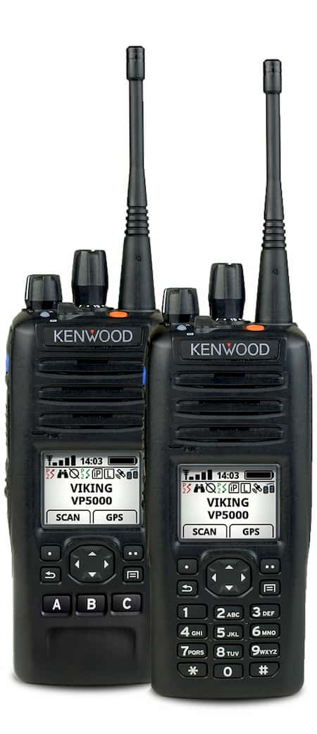 Kenwood VP 5000 hand helds radios in black