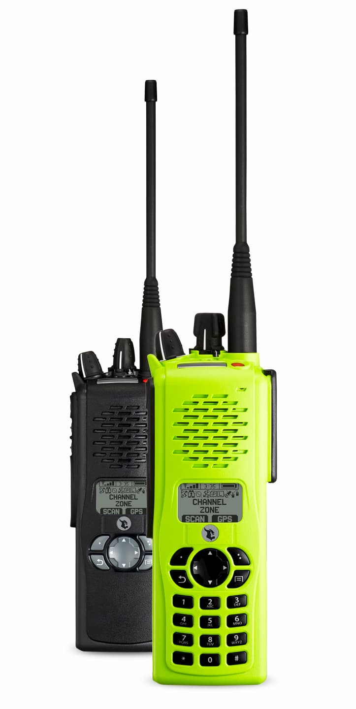 Kenwood VP 900 radios in black and high visibility green