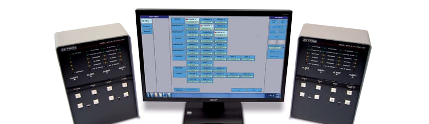Zetron IP Fire Station Alerting System monitor and equipment